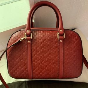 Gucci Bags - ❤️NWT Gucci 510286 Micro GG Red Satchel Purse Bag